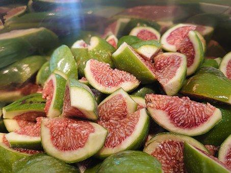 Figs, Fruits, Food, Cut, Sliced, Produce, Organic