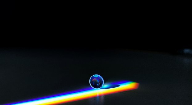 Lens, Rainbow, Refraction, Optical, Dark