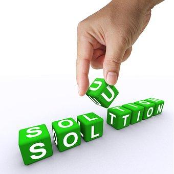 Solution, Letter Blocks, Hand, Letters, Concept, Help