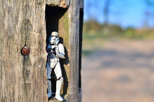 Star Wars, Stormtrooper, Toy, Wood, Figure, Small