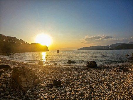 Sunset, Sea, Turkey, Landscape, Water, Mountains