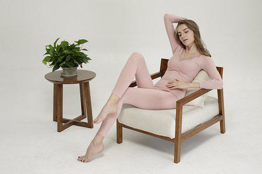 Armchair, Model, Woman, Furniture, Side Table, Table