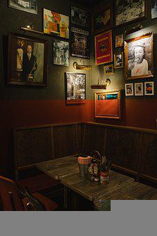 Bar, Restaurant, Vintage, Oldschool, Modern, Table