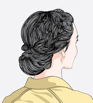 Woman, Hairstyle, Braid, Girl, Female, Hair, Bun
