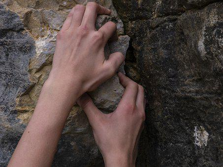 Climbing, Hands, Taken, Grab, Climb, Tighten, Force