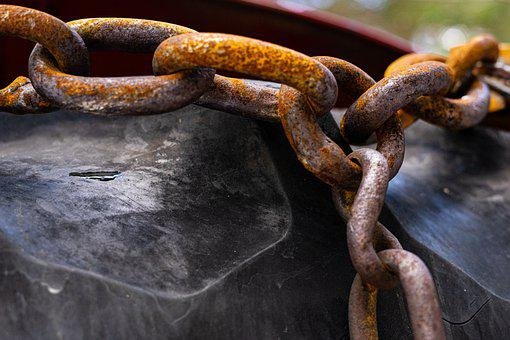 Chain, Link, Mesh, Metal, Connection, String, Rusty