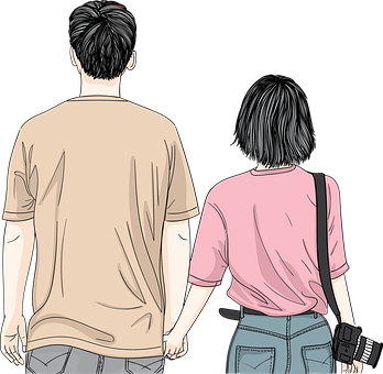 Couple, Romantic, Love, Holding Hands, Together