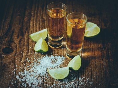 Tequila, Lime, Salt, Shot, Shot Glass, Alcohol, Drink
