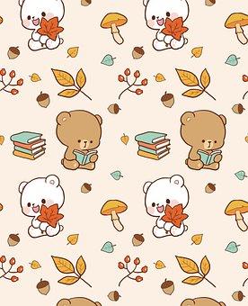 Bear, Cartoon, Background, Pattern, Seamless, Animal
