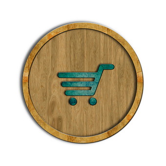 Shopping, Cart, Icon, Symbol, Button, Shop, Commerce