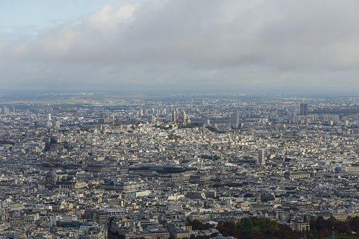 Buildings, Urban, City, Aerial, Eiffel Tower, Paris