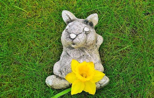 Easter Bunny, Hare, Figure, Ceramic, Easter, Garden