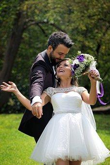 Wedding, Couple, Happy, Bride, Groom, Man, Woman, Love
