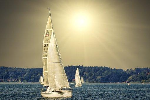 Sailing Boat, Yacht, Lake, Sail, Nature, Vacations
