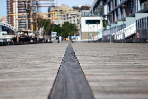 Dock, Wood, Pier, Port, Line, Platform, Wooden, Blur