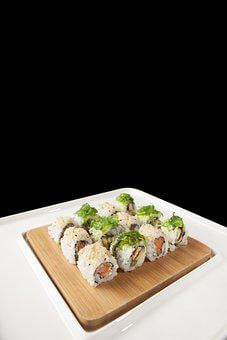 Sushi, Fish, Roll, Rice, Meal, Food, Japanese
