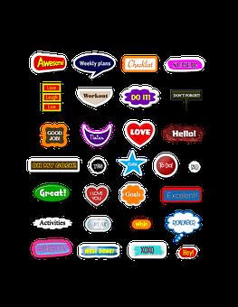 Sticker, Labels, Banner, Tag, Badge, Decorative, Label