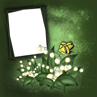 Lily Of The Valley, Flowers, Butterfly, Copy Space