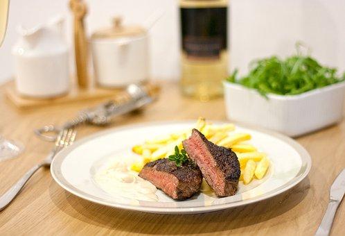 Steak, Meat, Beef, Dinner, Kitchen, Cook, Restaurant