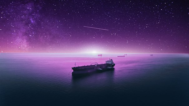 Ship, Stars, Space, Galaxy, Universe, Moon, Sky, Night