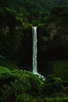Nature, Waterfall, Landscape, River, Movement
