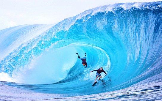 Wave, Surfing, Sea, Beach, Big Wave Surfing, Big Wave