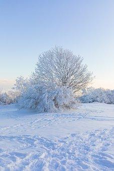 Mountains, Snow, Sunset, Sunrise, The Ice, Landscape