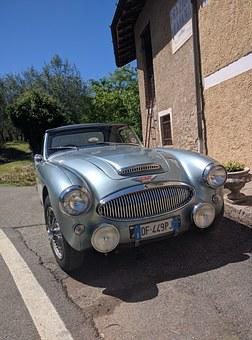 Old Car, Austin Healey, Convertible