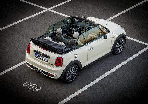 Mini, Convertible, Minicooper, Auto, Pariking