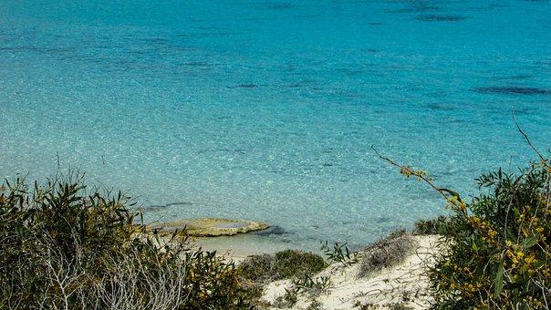 Cyprus, Ayia Napa, Cove, Sea, Crystal, Clear, Blue
