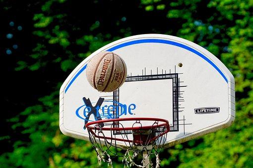 Basketball, Sport, Ball, Basket, Litter, Hits