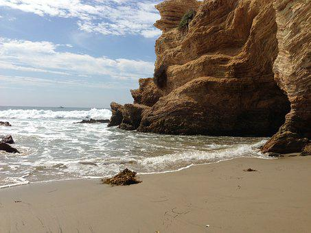 Crystal Cove Treasure Cove, Cliff, Ocean, Waves, Beach