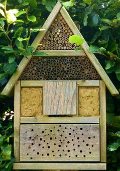 Insect Hotel, Bees, Wood Block, Bee Hotel, Insect, Wood