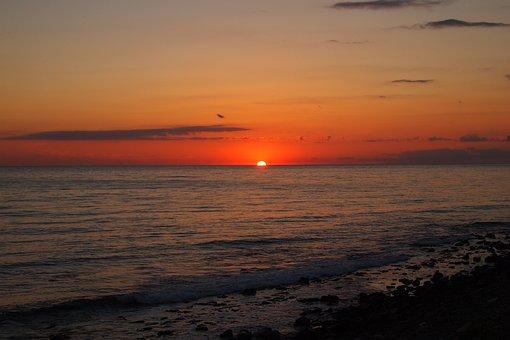 Black Sea, Anapa, Big Utrish, Cumberland Cove, Sunset