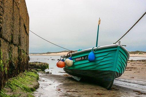 Sea Houses, Boats, Harbour, England, Northumberland