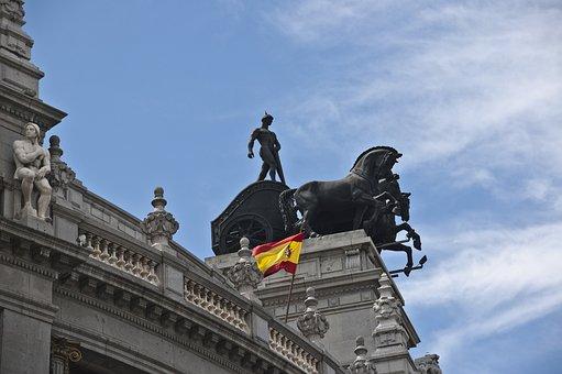 Madrid, Bronce, Sculpture, Horses, Banco Bilbao Madrid