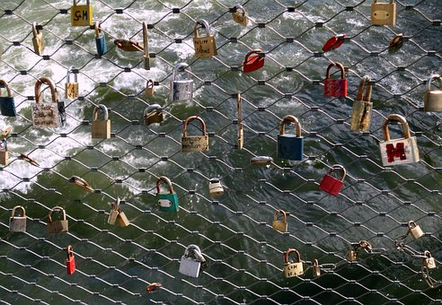 Graz, Bridge, Castles, Love Locks, Memory, Tourism