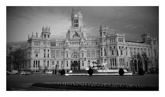 Madrid, Cibeles, City, Cybele Monument, Facade, Palace