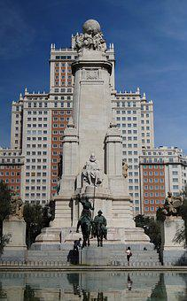 Madrid, Cervantes Monument, City, Architecture