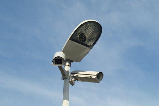 Monitoring, Camera, Replacement Lamp, Lighting, City