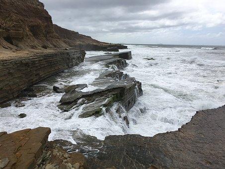 Ocean, Southern California, Coast, Sea, Sky, Surf