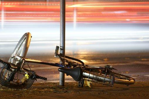 Bike, Accident, Fell Down, Damage, Broken
