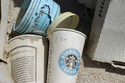Coffee, Starbucks, Trash, Logo, Desert, Salton Sea