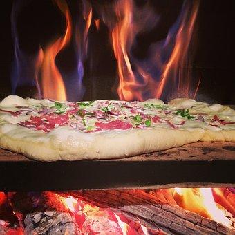Tarte Flambée, Pizza, Wood Burning Stove, Fire, Oven