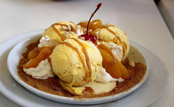 Mango Caramel Dessert, Dessert, Food, Sweet, Freezing