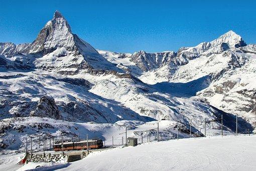 Gornergrat, Matterhorn, Mountains, Snow, Winter, Suisse