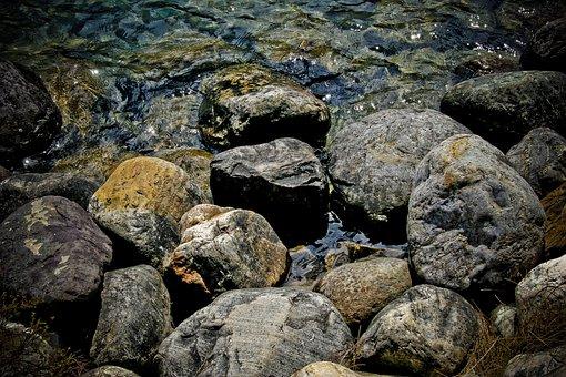 Rocks, Lake, Water, Nature, Outdoors, Scenic, Stone