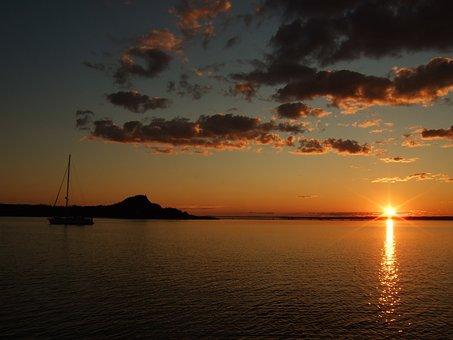 Water, Sun, Sunset, Sea, Landscape, Sky, Ocean, Horizon
