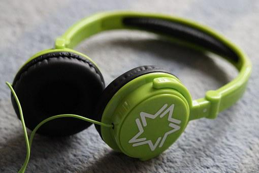 Headphones, Green, Listen To Music, Listen, Music