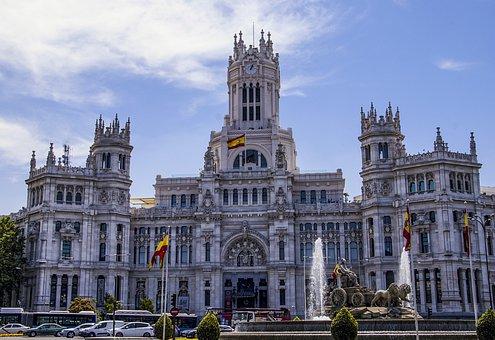 Madrid, Town Hall, Ayuntamiento, Palacio De Cibeles